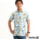 【値下げしました!】HURLEY メンズ 半袖 シャツ アロハシャツ OUTRIGGER SMILEY WOVN TOP