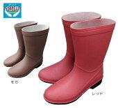 長靴レインブーツラバーブーツゴム軽い軽量やわらかアウトドアレジャー農作業ガーデニングシンプルデザインゲリラ豪雨台風梅雨レディース婦人エアーリープレディースAL-02