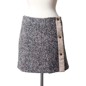 See by Chloe Studded Line Wrap Flare Skirt Wool Mix Tweed s5aju14001s01 2015AW Ladies Fall Winter 3