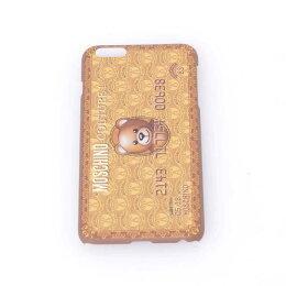 モスキーノ(Moschino)テディベアカードプリントiPhone6Plus用ケースジェンナリーノブラウン