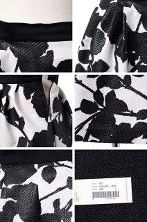 アントニオマラス(ANTONIOMARRAS)ふくれ織りボリュームスカートコットン混合アイボリーフラワープリント