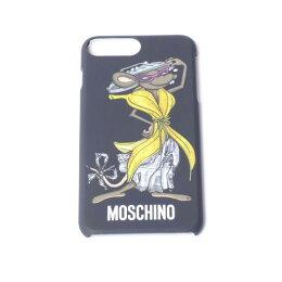 モスキーノ(Moschino)iiPhone6/6S/7Plus用ケースバナナドレスマウスプリントブラック