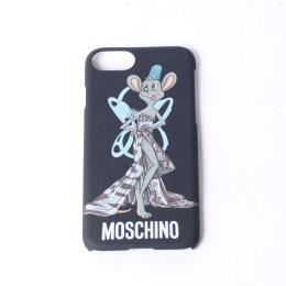 モスキーノ(Moschino)iPhone6/6S/7用ケース空き缶ドレスプリントブラック