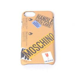 モスキーノ(Moschino)iPhone7用ケース6/6s対応ロゴ入り取扱い注意モチーフサンド
