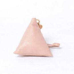 シーバイクロエ(seebychloe)三角形コインケースシープスキンピンク
