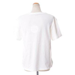 シーバイクロエ(seebychloe)サボテンモチーフ半袖カットソーコットンジャージーホワイト