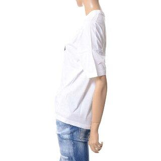 ディースクエアード(Dsquared2)カウボーイプリントTシャツコットンホワイト