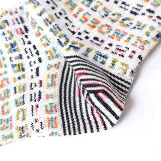 ミッソーニ(Missoni)ロゴ入り靴下羊毛などミックス