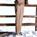 ゴールデングース (Golden Goose) CHINOツイードチェックパンツ ハリスツイード ブラウンベージュチェックg33wp102a1 2018AW レディース秋冬新作 送料無料 正規取扱