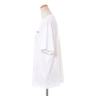 ゴールデングース(GoldenGoose)ロゴ入り半袖カットソーコットンホワイト