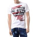 ディースクエアード ロゴプリントTシャツ コットン ホワイト