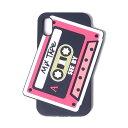 シーバイクロエ カセットiPhone X用ケース シリコン ブラック