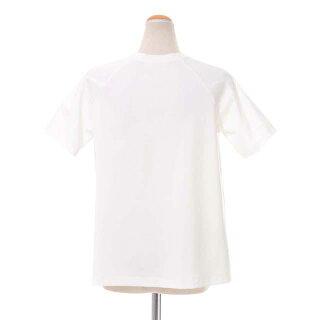 テン(ten.)フレア半袖カットソーコットンジャージーホワイト