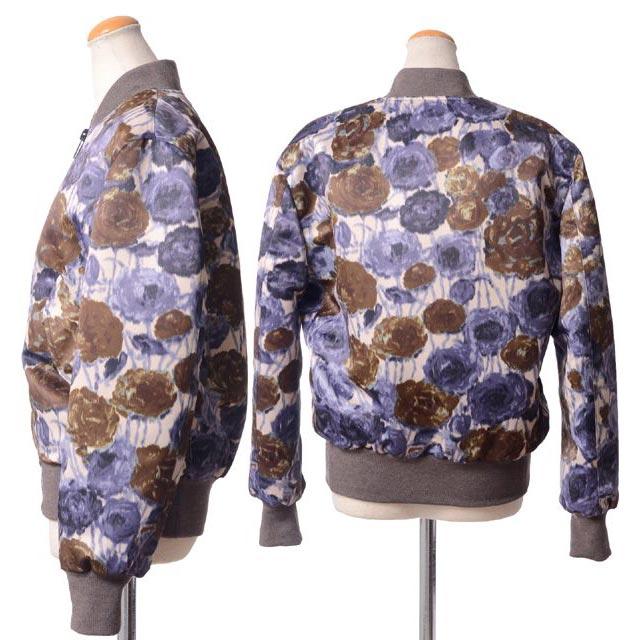エリカ カヴァリーニ セミクチュール (ERIKA CAVALLINI semi-couture) ブルゾン ウール混合 フワラープリント 14ee01429061 柄,ジャケット,  【正規取扱】