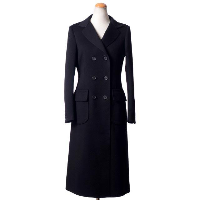ヨシフナバシ (yoshi funabashi) ダブルコート 一枚仕立てカシミア ブラック d1221034w ロング丈コート,喪服,黒,羽織 10,800円以上購入で 【正規取扱】