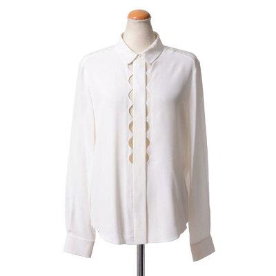 クロエ (chloe) シャツ襟 シルククレープ ミルク ht11004500a 2015SS…