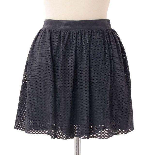 ドローム (DROMe) レザーメッシュミニスカート dpd0251 ネイビースカート,メッシュ加工レザー,ミニスカート 10,800円以上購入で 【正規取扱】