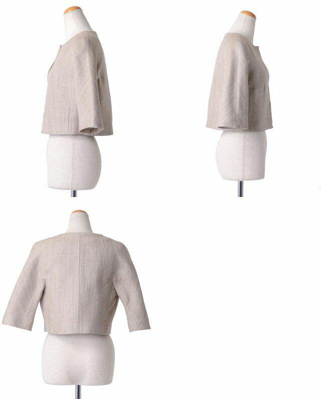 ジャンバティスタ ヴァリ (GiAMBATTISTA VALLI) 六分袖ジャケット ベージュ p12pv61000261 10,800円以上購入で 【正規取扱】