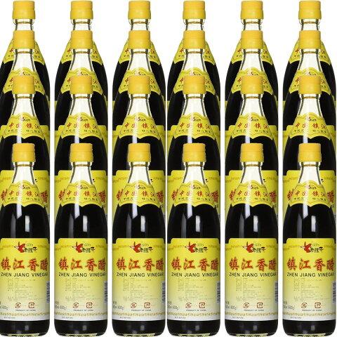 ロウバ 鎮江香酢 (中国黒酢) 550mlx24本 人気中国香酢 老騾子