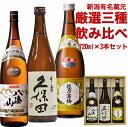 送料無料 人気新潟銘酒 飲み比べセット720ml×3本 越乃...