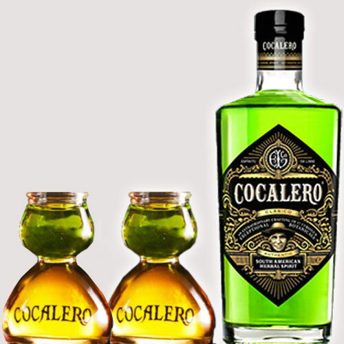 あす楽可(送料無料)COCALERO コカレロ (ボムグラス2個付き ) 29度 700ml  コカの葉 リキュール 17種のハーブ使用 コカレロ ボムグラス 2個付き