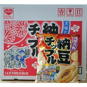 納豆味が新登場!!リスカ 納豆チップル  【1箱には48g入り小袋が12袋】