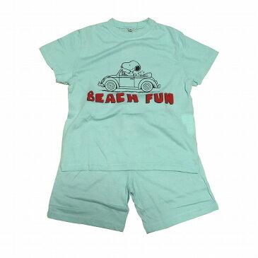 スヌーピー子供パジャマ 半袖半ズボン(110 ))