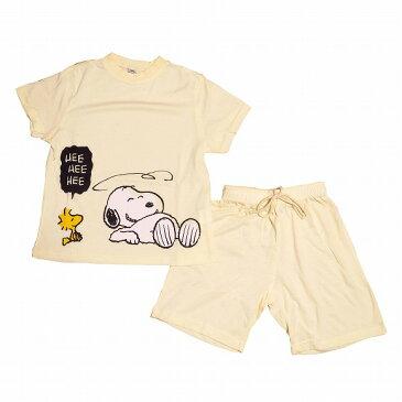 スヌーピー子供パジャマ 半袖半ズボン(110)