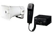 ユニペックス 12V仕様 車載システムセット(エコノミークラス)12V用10W車載アンプ(マイク付)+10Wコンビネーションスピーカー+スピーカー2本接続用コードギボシ付4m(NT-102A+CK-231/10+LS-404)NT−102A-C