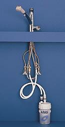 キッツ浄水器オアシックスビルトインハンドシャワー機能付混合水栓一体型【クレジットカードOK】