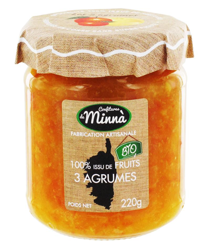 オーガニックジャム 3-シトラス ミカン+オレンジ+グレープフルーツ 【ホワイトデー】 【プチギフト】 【プレゼント】画像