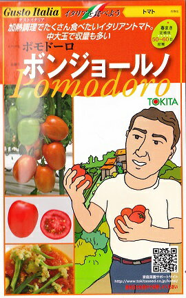 【トマト】ボンジョールノ【ポモドーロ】★イタリアの野菜【トキタ種苗】(15粒)[春まき]
