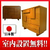 【納期:約1カ月】リビングボードウッディ100オーク材ナチュラル色/ブラウン色送料無料日本製