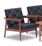 カリモク 合成皮革1Pソファー WS1190BW 日本製 家具のよろこび 【店頭受取対応商品】