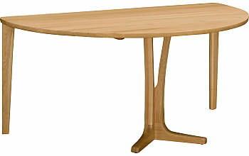 【a】カリモク半円型ダイニングテーブルDU5430ME幅150オーク材送料無料【家具のよろこび】【c】