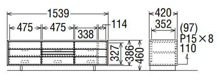 カリモクソリッドボードQT5017MK-AQT5017MS-AQT5017MH-AQT5017ME-A幅154送料無料テレビボードテレビ台【家具のよろこび】【c】