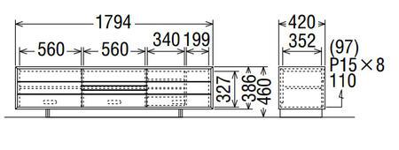 カリモクソリッドボードQT6017MK-AQT6017MS-AQT6017MH-AQT6017ME-A幅180送料無料テレビボードテレビ台【家具のよろこび】【c】