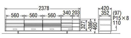 カリモクソリッドボードQT8017MK-AQT8017MS-AQT8017MH-AQT8017ME-A幅238送料無料テレビボードテレビ台【家具のよろこび】【c】