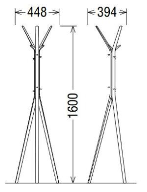【a】カリモク組み立て式ポールスタンドAU5200MK/AU5200MH/AU5200MS送料無料【家具のよろこび】【c】