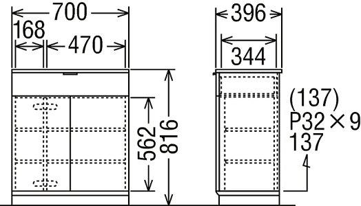 カリモクキャビネット幅105QD3506NIQD3506NE送料無料家具のよろこび【店頭受取対応商品】