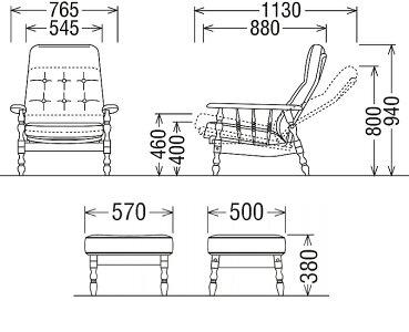 【11/15までP10倍】カリモクリクライナー&スツールRC6080FKRC6036FKコロニアルシリーズ送料無料バラ売り対応可家具のよろこび【店頭受取対応商品】