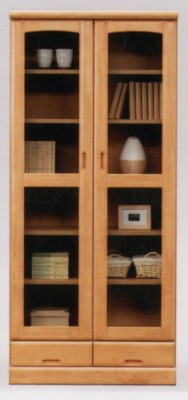 4サイズ×2色のバリエーションでどの様な部屋にも合わせやすい書棚フリーボード食器棚フレンド80書棚ライトブラウン【送料無料】