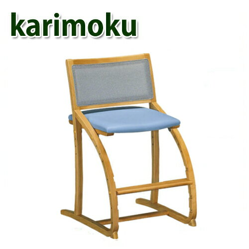 【P10倍】 カリモク チェア クレシェ XT2401 フローラルブルー色 国産ダイニング パソコン 【家具のよろこび】 【スーパーセール】:カリモク&国産家具のよろこび