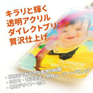 【送料無料キャンペーン中!】【画質がキレイ!】名入れ対応!オリジナル写真キーホルダー(片面印刷)(四角型/60mm)《赤ちゃん写真入れキーホルダーギフト父の日母の日七五三御歳暮冬ギフト》