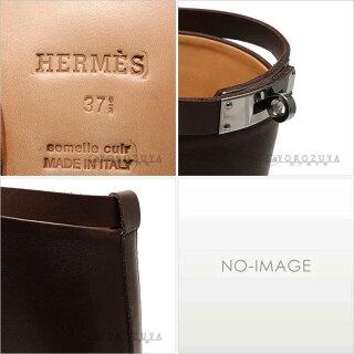 HERMES エルメス ジャンピング ブーツ 042142ZG-05-375 レザー モカ パラジウム金具 【】