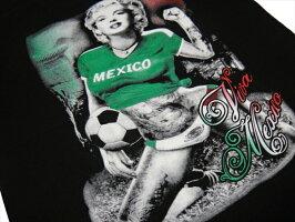 マリリンモンローギャングスターTシャツメキシコサッカー