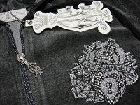 クリスチャンオードジェーChristianAudigier刺繍レディースベロアパーカーロスジップフーディー