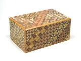 寄木細工 秘密箱10回仕掛け 5寸 小寄木