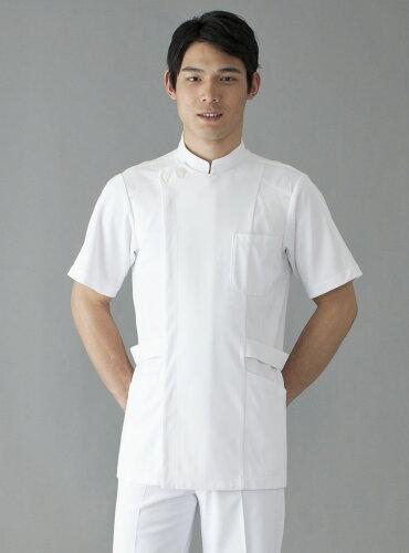 白衣 男性用、男子ドクターケーシー上衣 半袖1527-1