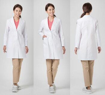 ワコールとFOLKのコラボレーションスリム&Aライン女性用ドクターハーフコート